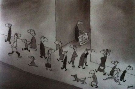 My all-time favourite cartoonist...Michael Leunig.