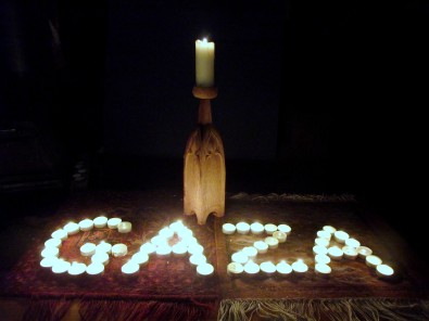 A light in support of Gaza, 1 DSCF9470